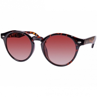 Ronde dames zonnebril met print model 7001