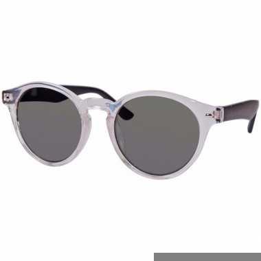 Ronde dames zonnebril transparant model 7002