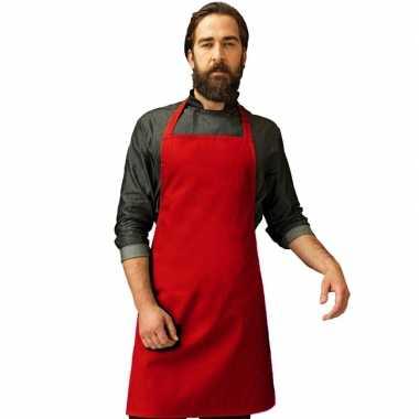 Rood barbecue keukenschort voor volwassenen