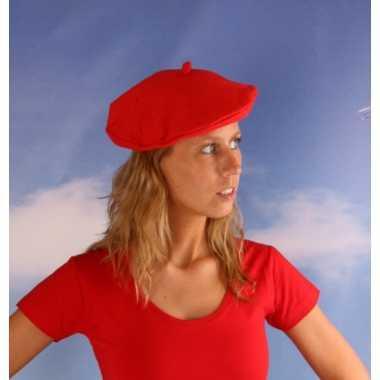 Rood baretje voor dames