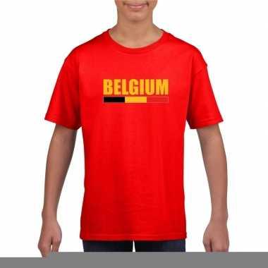 Rood belgium supporter shirt kinderen