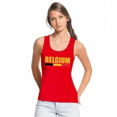 Rood belgium supporter singlet shirt/ tanktop dames