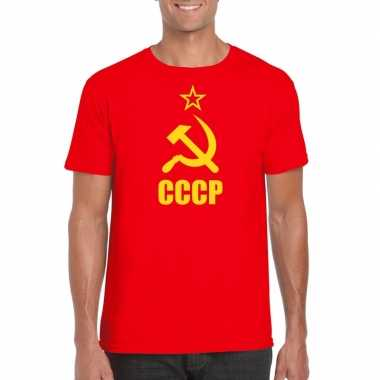 Rood cccp / sovjet-unie t-shirt voor heren