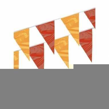 Rood en geel vlaggenlijnen 4 meter 3 st