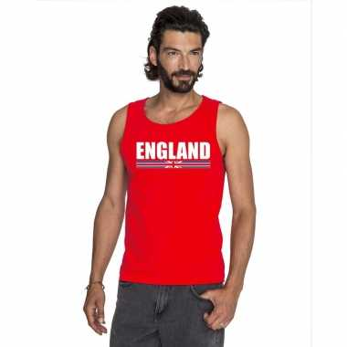 Rood engeland supporter singlet shirt/ tanktop heren
