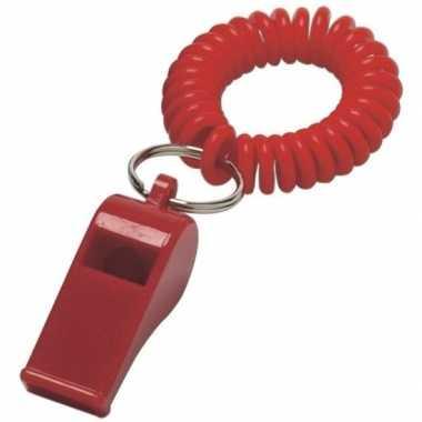 Rood fluitje aan polsbandje