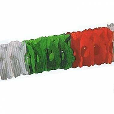 Rood groen witte slingers 4 meter