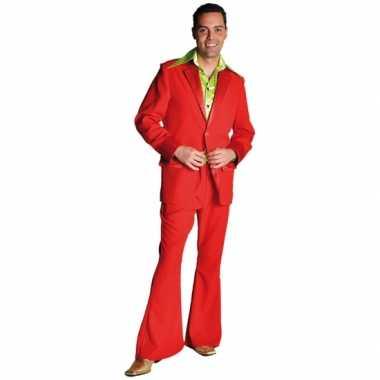 Rood jaren 70 kostuum voor heren
