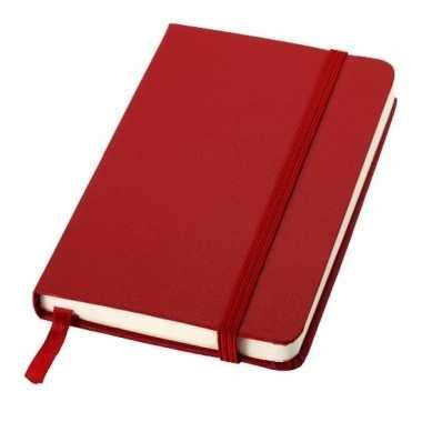 Rood kantoor notittie boekje a6
