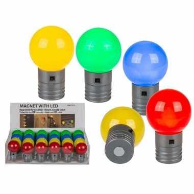 Rood magneet led lampje 4,5 cm