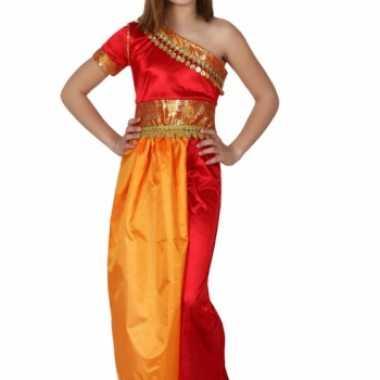 Rood met gele oosterse jurk