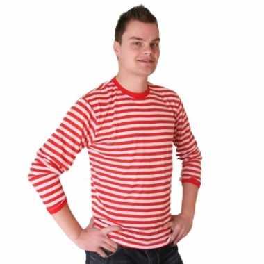 Rood met wit gestreepte dorus truien voor heren