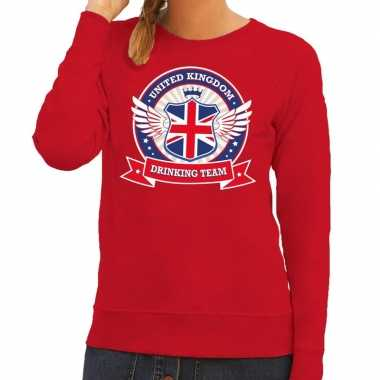 Rood united kingdom drinking team sweater dames