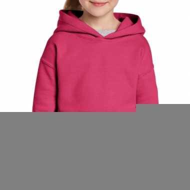 Roze meisjes trui met capuchon trend