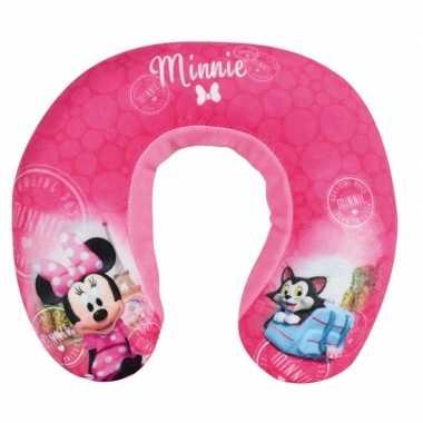 Roze minnie mouse disney nekkussen/reiskussen voor meisjes