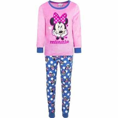 Roze minnie mouse pyjama voor meisjes