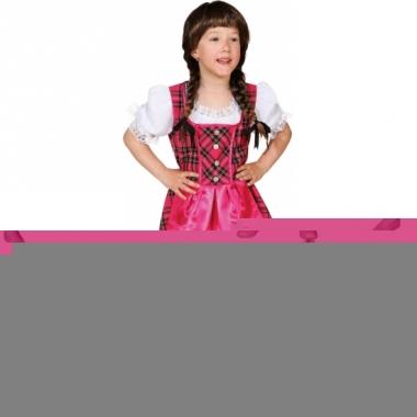 Roze oktoberfest jurk voor kinderen