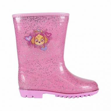 Roze paw patrol regenlaarzen voor meisjes