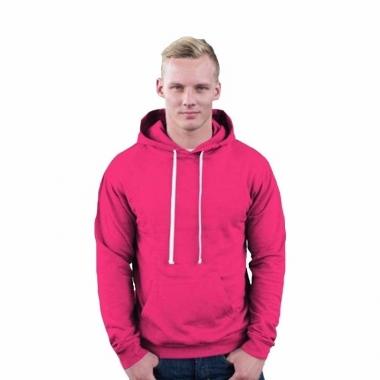 Roze sweater met capuchon trend
