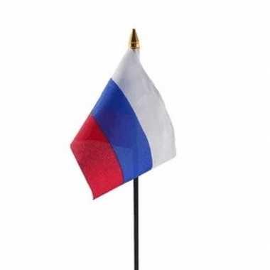 Rusland vlaggetje met stokje trend