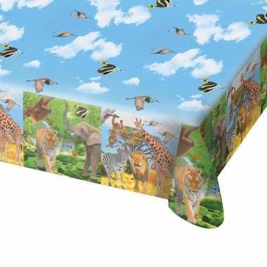 Safari/jungle themafeest tafelkleed 130 x 180 cm