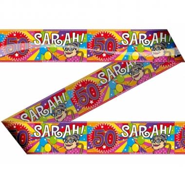 Sarah 50 jaar afzetlint
