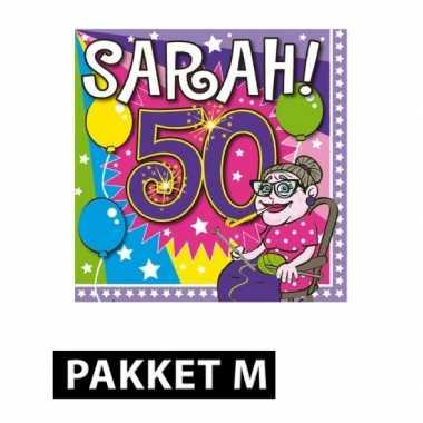 Sarah verjaardag versiering feestpakket