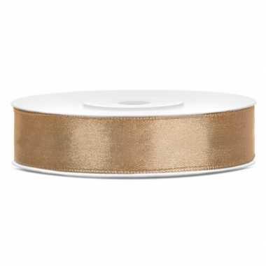 Satijn sierlint goud 12 mm