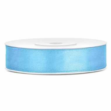 Satijn sierlint lichtblauw 12 mm