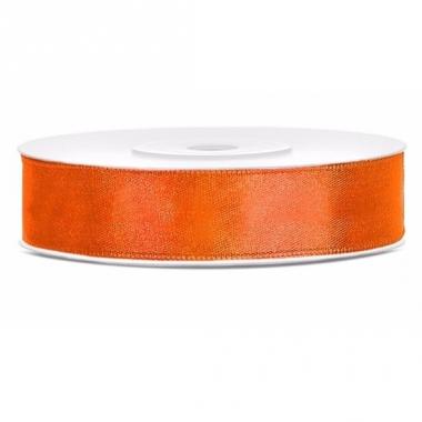 Satijn sierlint neon oranje 12 mm