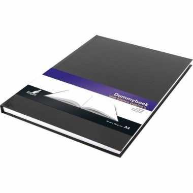 Schetsboek/tekenboek zwart a4 formaat 80 vellen met harde kaft