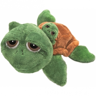 Schildpad knuffels met baby 24 cm