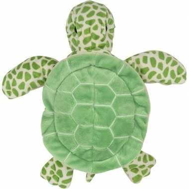 Schildpadden speelgoed artikelen schildpad handpop knuffelbeest groen