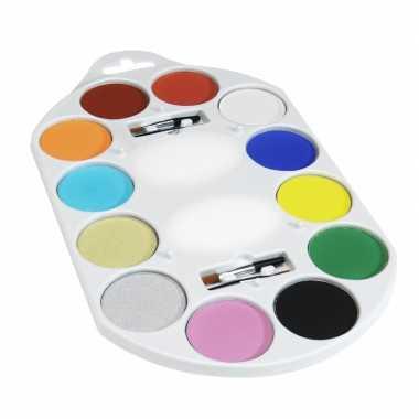 Schminkdoos met 12 kleuren