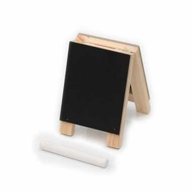 School krijtbord met krijtjes 10 cm