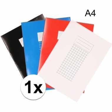 School schriften a4 met ruitjes 10 mm