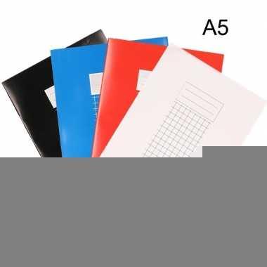 School schriften a5 met ruitjes 10 mm 10x