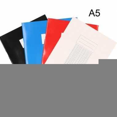 School schriften a5 met ruitjes 5 mm 10x