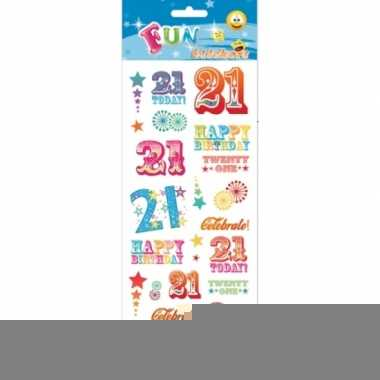 Schoolagenda stickers 21 jaar
