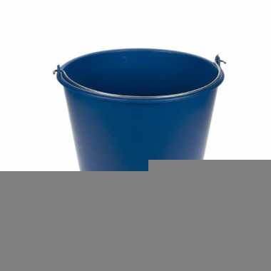 Schoonmaakspullen blauwe emmer 12 liter