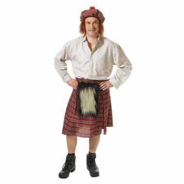 Schotse kilt met hoed voor heren