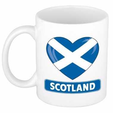 Schotse vlag hartje theebeker 300 ml