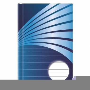Schrift a4 formaat blauwe harde kaft