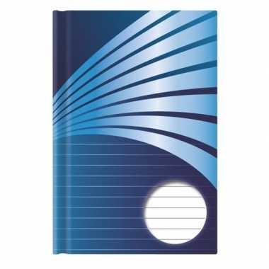 Schrift a5 formaat blauwe harde kaft
