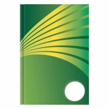 Schrift a5 formaat groene harde kaft