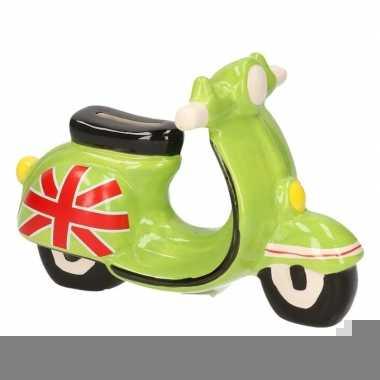 Scooter spaarpot groen