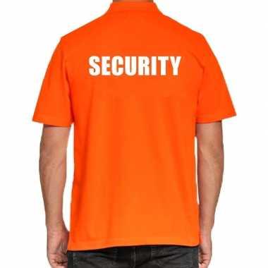 Security poloshirt oranje voor heren