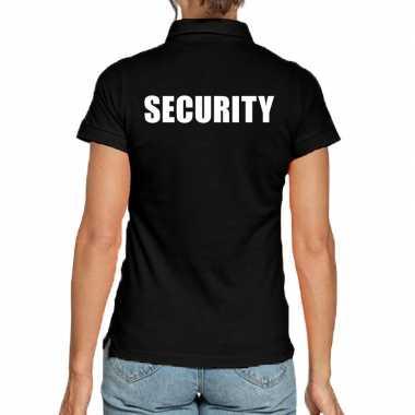 Security poloshirt zwart voor dames