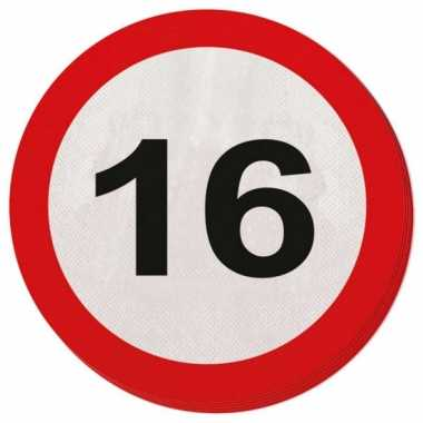 Servet 16 jaar verkeersbord
