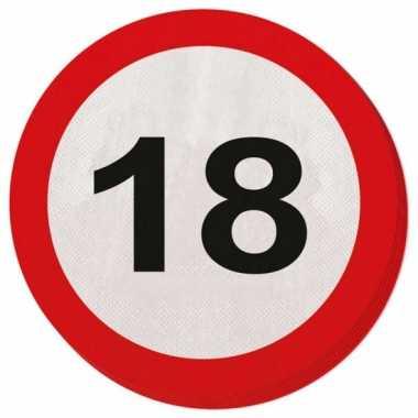 Servet 18 jaar verkeersbord